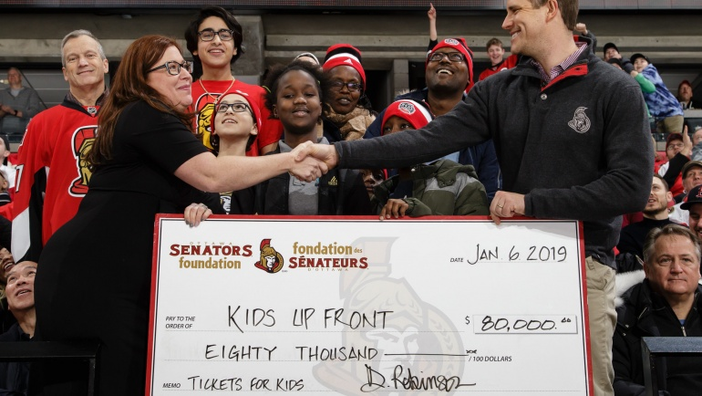 Ottawa Senators Foundation contribute $80,000!